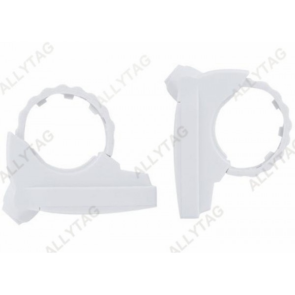 White Color Bottle Security Tags Anti Theft , Tooth Buckle Bottle Lock Tag