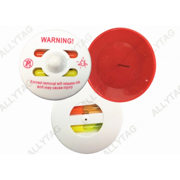 Red Pin 50mm Ink Security Tag New ABS Plastic Materials Environmental Friendly