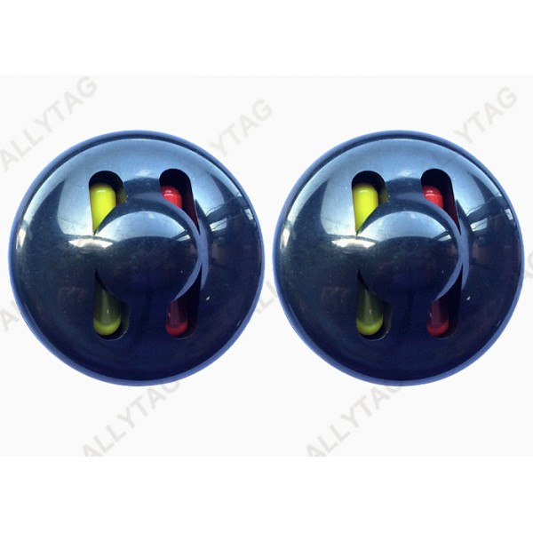 R50 50mm Diameter Ink Security Tag Magnetic Locking With Steel Balls