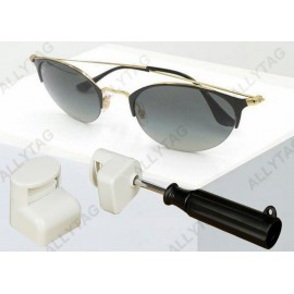 Alarming AM 58KHz / RF 8.2MHz Glasses Security Tag Lock On Sunglasses