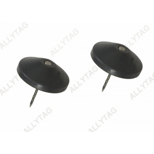 Security Hard Anti Theft Accessories , Plastic Head Steel Security Tag Pin 16mm