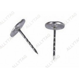 Eas Security Anti Theft Accessories Flat Head Steel Pin For Supermarket