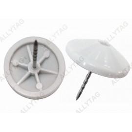 Retail Shop Hard Tag Pin Reusable Plastic Head 16 - 21mm Customized Pin Length