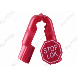Red Color Display Hook Product Stop , Security Stop Lock 4mm - 8mm Hole Diameter