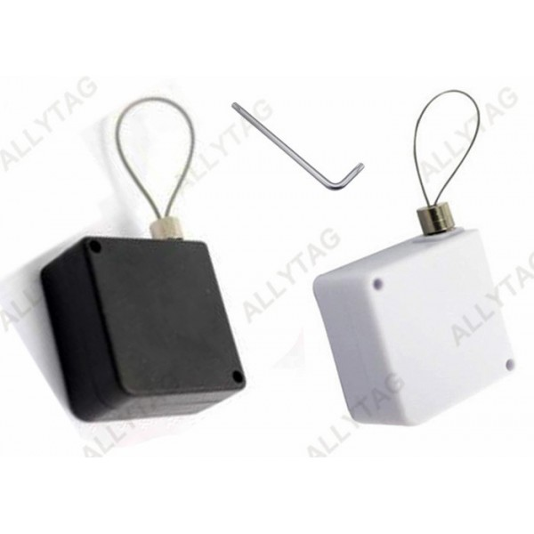 Retractable Cable Security Pull Box One Copper Pillars Terminal For Watches Display