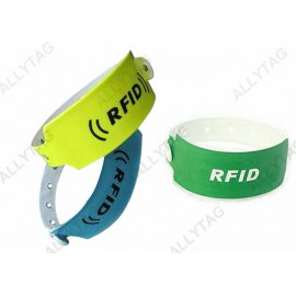 Customized Disposable UHF RFID Wristband PVC Coating Material For Hospital Tracing
