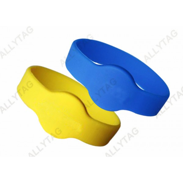 Passive NFC Tag13.56mhz RFID Silicone Wristband Waterproof For Mental Hospital