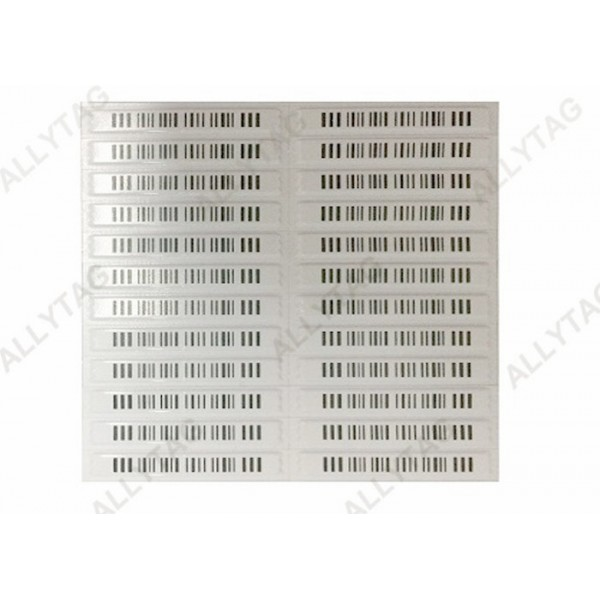 58KHz Acousto Magnetic Anti Shoplifting Tags With Barcode / Blank Printing