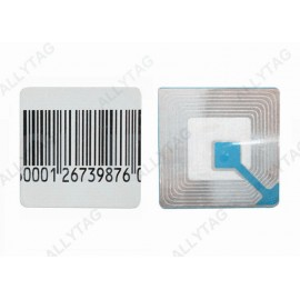 40x40mm Size RF Security Labels , Anti Theft Sticker Customized Shapes